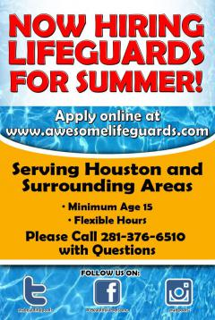 Now Hiring Lifeguards for the 2018 Pool Season